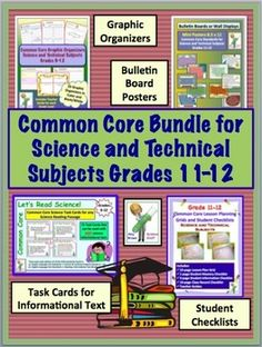 The Common Core Bundle for Grades Science and Technical Subjects. Science teachers must provide instruction in the reading of informational text as well as the CCSS standards for the Science and Technical Subjects. Types Of Science, Common Core Science, Science Lessons, Science Student, Science Classroom, Common Core Standards, Ccss Standards, Daily Lesson Plan, Next Generation Science Standards