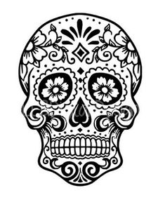Sugar Skull SVG File-Day of the Dead SVG File Sugar by 4LLBDesigns