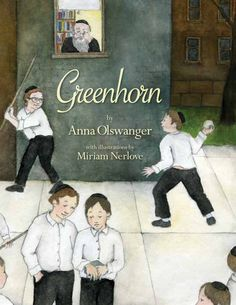 "Greenhorn by Anna Olswanger, illustrated by Miriam Nerlove, is the story of a young Holocaust survivor who arrives at a Brooklyn yeshiva in the 1940s with only a small box that he won't let out of his sight. Karen Cushman, Newbery Medalist, calls Greenhorn ""a tender, touching celebration of friendship, family, and faith."" David Adler, winner of the Boston Globe-Horn Book Honor Book for Nonfiction, calls Greenhorn ""a heartwarming and heartrending story of friendship and tragedy."