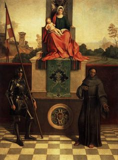 Giorgione -Madonna and Child Enthroned between St Francis and St Liberalis  Discover the coolest shows in New York at www.artexperience...