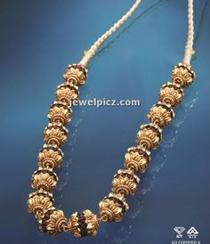 gold rudraksha necklace by Aishpra ~ Latest Indian Jewellery designs