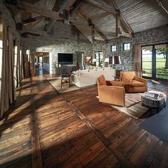 Pallet wood floor.
