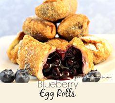 Blueberry Egg Rolls