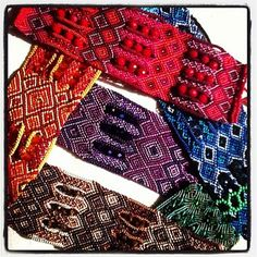 Sparkly little woven beaded cuff bracelets from the Mayan women of Guatemala!