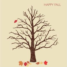 A simple fall card idea made with the Martha Stewart CraftStudio app.