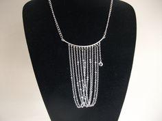 Chain cascade necklace de la boutique BijouxdeBrigitte sur Etsy Boutique, Etsy, Silver, Jewelry, Fashion, Old Jewelry, Necklace Ideas, Unique Jewelry, Fashion Jewelry