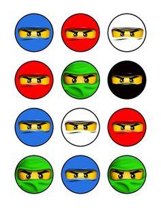"""Ninjago 2"""" Circle Cupcake Toppers"""
