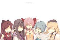 Anime - Puella Magi Madoka Magica Wallpaper: Kyoko, Homura, Madoka, Sayaka, and Mami