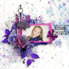 Layout Credit:  Anja_77.   Kit by G&T Designs, Purple Heart.  E-scape and Scrap