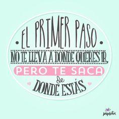 Pues habrá q dar el primer paso!! #FelizJueves #FelizJuernes #frases #FraseDelDia #buenrollo #BuenosDias #vamosalla