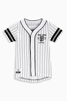 600eaa90f9a74 Comprar Camisa de béisbol blanca de manga corta (3 meses-6 años) online hoy  en Next  España