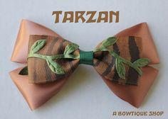 tarzan hair bow by abowtiqueshop on Etsy