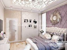 Дизайн квартиры в стиле арт-деко на Малой Бронной. Спальня