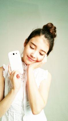 """iulicious: """"IU Samsung Mobile Photo """" Korean Star, Korean Girl, Asian Girl, Korean Idols, Most Beautiful Faces, Beautiful Voice, Korean Actresses, Actors & Actresses, Iu Hair"""