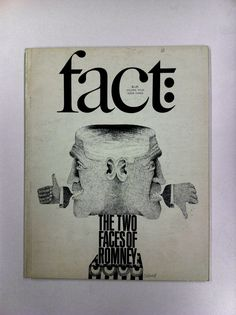 """The Two Faces of Romney"" cover designed by Herb Lubalin, illustration by Etienne Delessert. 1967 