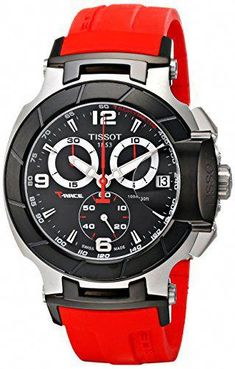 f7a53216820 Now available Tissot Men s T0484172705701 T-Race Two-Tone Stainless Steel  Watch with Red