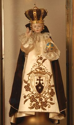Miraculous Infant of Prague « Boston Carmel Infant Of Prague, Jesus Clothes, Church Of Our Lady, Lady Of Fatima, Infancy, Carters Baby Boys, Baby Education, Baby Jesus, Blessed Mother