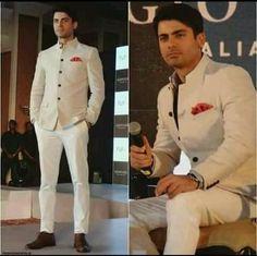 Fawad Afzal Khan in white beautiful dress