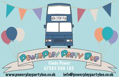 PowerPlay Party Bus Business card.