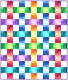 Color Weave Quilt Pattern (advanced beginner, lap and throw) Quilting Tutorials, Quilting Projects, Quilting Designs, Quilting Ideas, Sewing Projects, Bright Quilts, Colorful Quilts, Small Quilts, Scrappy Quilt Patterns