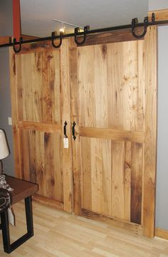 Walnut Creek Furniture Sliding Barn Doors. These beautiful sliding barn doors are made using reclaimed barn wood from the heart of Amish County.