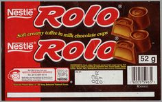 PICSERS OF CANDY RAPERS | CC_South Africa - Nestle - Rolo - chocolate candy wrapper - 2000