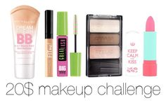 """20$ makeup challenge"" by lilocean ❤ liked on Polyvore featuring beauty, Maybelline, Wet n Wild and Rimmel"