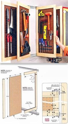 Pegboard Storage Panels - Workshop Solutions Plans, Tips and Tricks | WoodArchivist.com