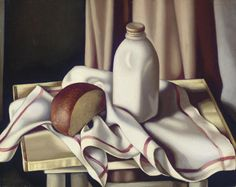 Tamara de Lempicka, Still Life with Bottle of Milk on ArtStack #tamara-de-lempicka-lempicka #art