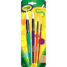 Crayola Crayola Wood Round Brushes 4 Ct. (05-3521)