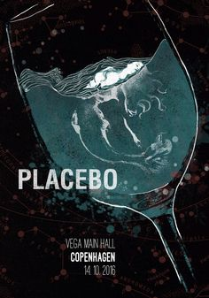 Placebo, music poster. Mermaid illustration