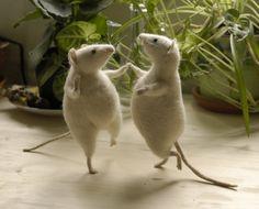 Natasha Fadeeva Felted Mice