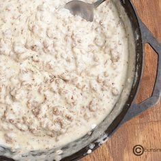 sausage gravy for biscuits.  oh its the best.