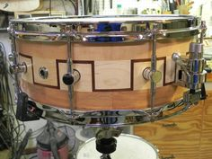 Snare drum starting to think I'm better at making them than playing em. Snare Drum, Drummers, Percussion, Eye Candy, Wicked, Workshop, Music Instruments, Woodworking, Cool Stuff