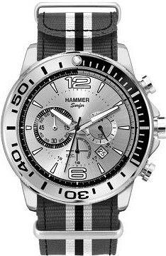 Indossa un orologio da polso HAMMER se vuoi essere , da uomo di tipo cronografo, con movimento al quarzo e bracciale in tessuto. Prodotto disponibile!