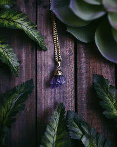 Golden getaucht Amethyst Steine Ketten-Rosenquarz von SavannahAvril