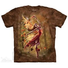 Autumn Fairy T-shirt 10-4897 by Anne Stokes  This fairy has one job and that is to change the leaves in autumn to their brilliant colours of red, orange, yellow and brown.