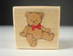 Tiny Teddy A305 Hero Arts Bear Plush Stuffed Animal Mounted Rubber Stamp #HeroArts