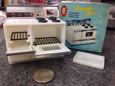 Vintage Amanda Ann Dollhouse Furniture Miniature Kitchen Stove By Comber Marx #Marx