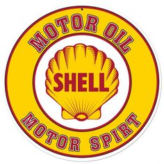 Shell Motor Oil Advertising Sign 28 x 28 Vintage Replica USA Made Steel Vintage Style Retro Gas Oil Garage Art Wall Decor SHL146 by HomeDecorGarageArt on Etsy