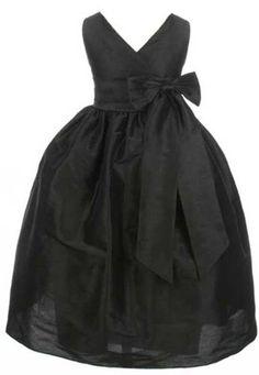 Girls Sweet Kids Criss Cross Bow Dress 2 Black (Sk 2931):Amazon:Clothing