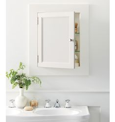 Rejuvenation: Bath - Minimal and clean, our Palmer Medicine Cabinet is easy to integrate into any bathroom style -- regardless of molding detail or period. Recessed Medicine Cabinet, Medicine Cabinets, Craftsman Bathroom, Cottage Bathrooms, Bungalow Bathroom, Bathroom Renovations, Bathroom Ideas, Bathroom Designs, 1920s Bathroom