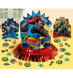 Blaze And The Monster Machines Decorating Kit Party Themes and Decorations   Party Corner #BlazeAndTheMonsterMachines #PartyCorner