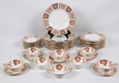 49 PIECES OF ROYAL CROWN DERBY CHINA