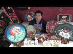 Los secretos de la Pintura decorativa Navideña (1/4) - YouTube