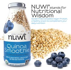 {Check these out} Gluten Free, Organic, Vegan, Quinoa Based Smoothies!! Thankful to have a new Partner in Nuwi.