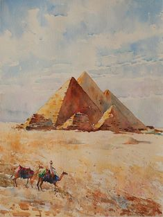 Art Works, Renaissance Paintings, Art Painting, Planets Art, Egypt Art, Watercolor Landscape Paintings, Art, City Art, Aesthetic Art