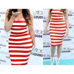 Get 21% off on #Striped_Strapless_Off_Shoulder_Womens_Dress. For more details visit - http://www.souqelkhaleej.com/en/new-fashion-summer-autumn-ladies-casual-dress-sleeveless-vintage-empire-chiffon-leopard-women-dress-12442.html