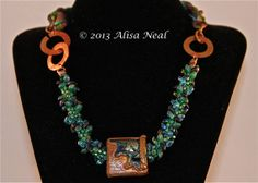 Kumihimo Necklace Sea Cave by Alisa Neal of TheBeadnikDivas on Etsy, $165.00  www.etsy.com