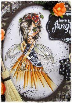 Design by Jenny ~ Copic Used - Skin: E11, E21, E00, W3, R11, R20 Hair: E49,E53, E44, E42 Clothes/Wings: YG97,YG95, YR24,YR14,YR12, YR01,YR00, C8,C7,C5,C4